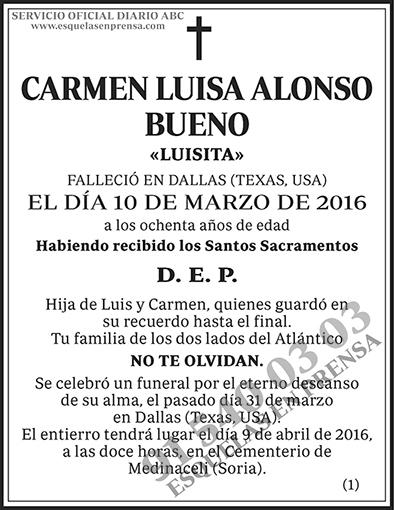 Carmen Luisa Alonso Bueno